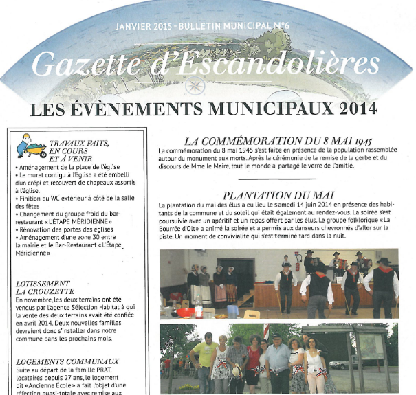 Bulletin municipal Escandolieres 2015